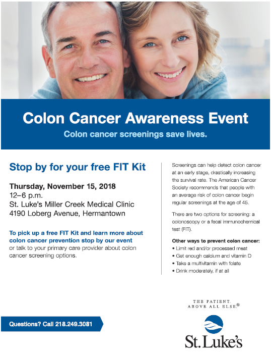 St Luke S To Host Free Colon Cancer Screening Event Fox21online