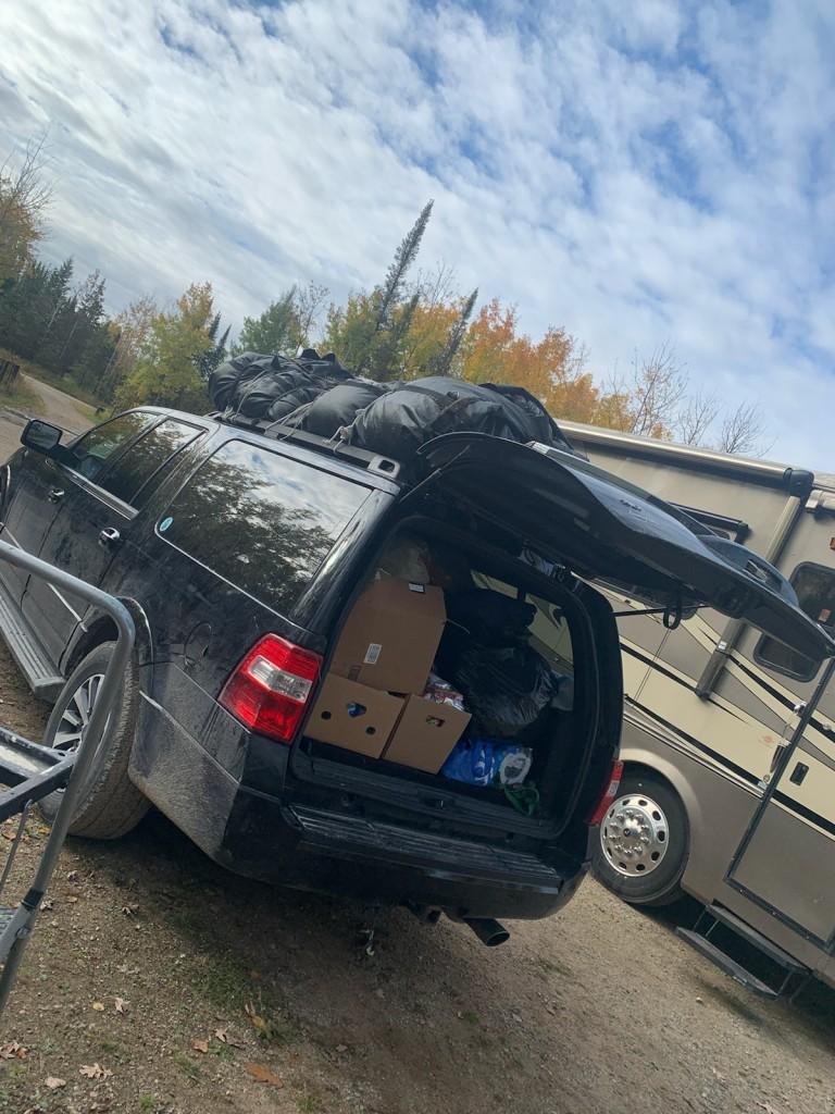 Car full of donations