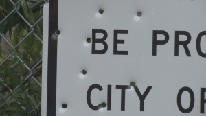 Bullets In Sign