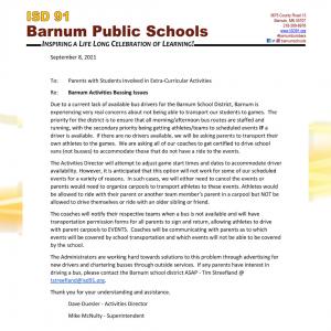 Barnum Public Schools Buses