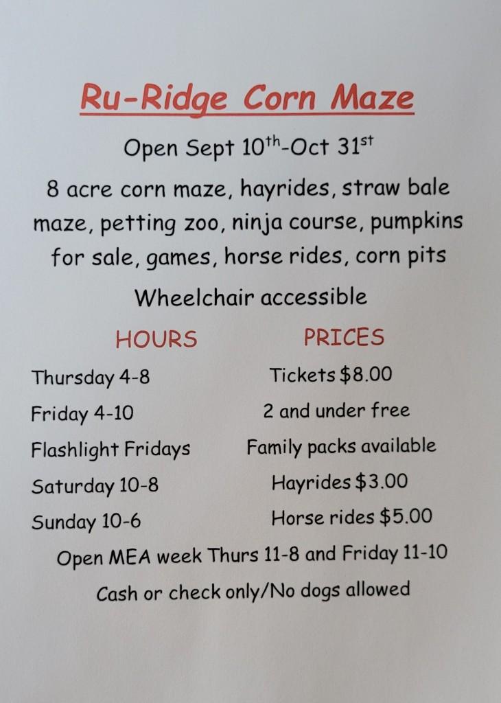 Ru Ridge Corn Maze